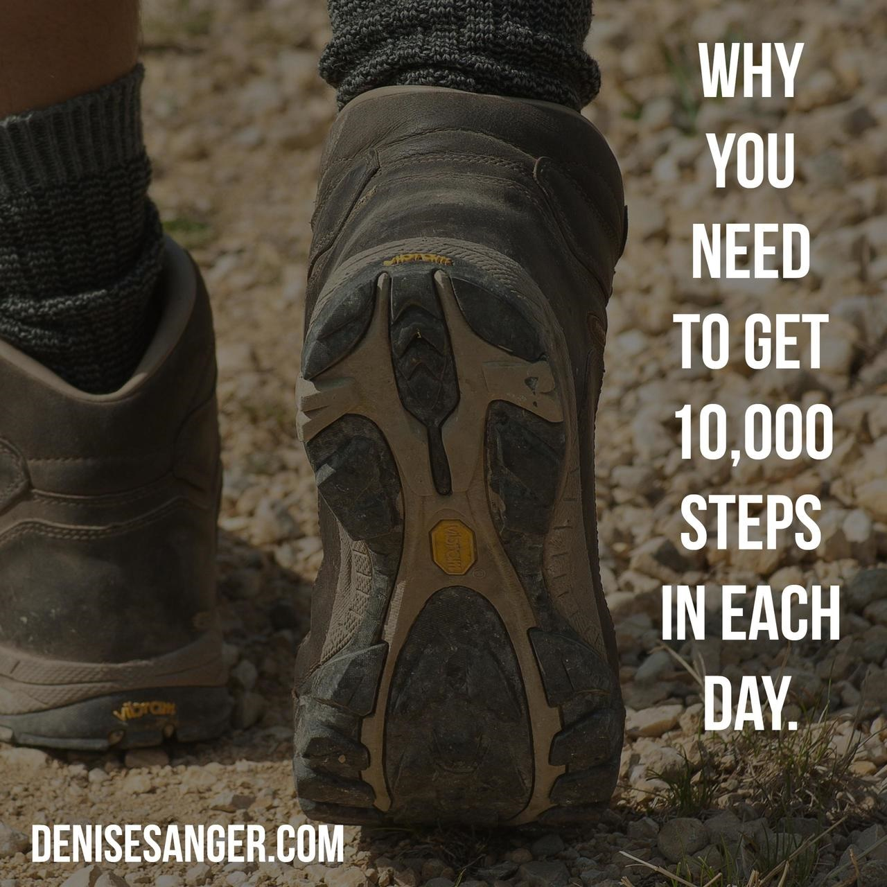 10000 steps daily exercise denisesanger.com