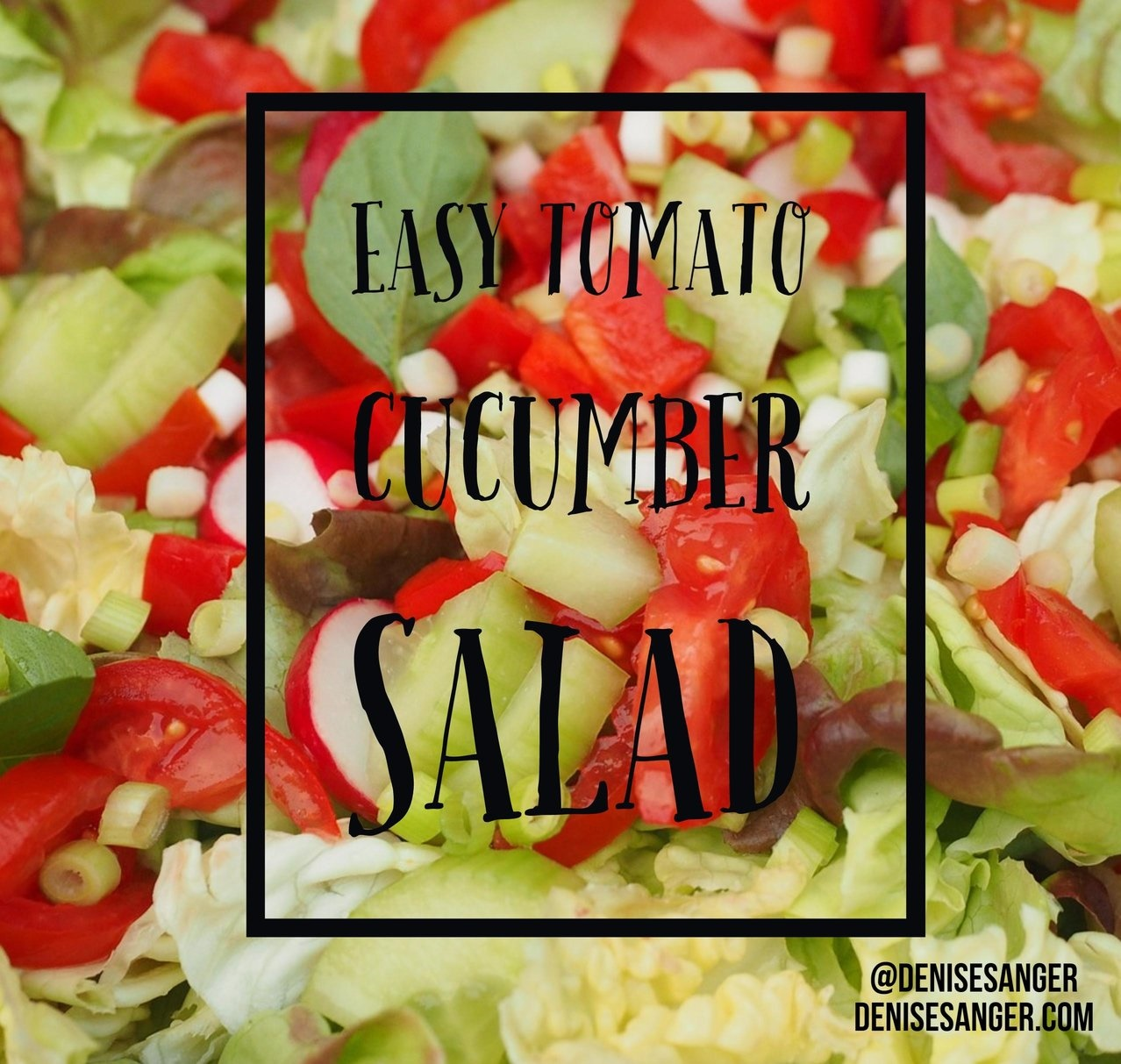 Easy Tomato Cucumber Salad Low Carb